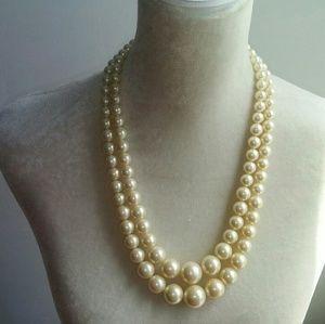 Trifari Double Strand Pearl Necklace
